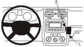Product Pol 1383 ProClip Do Volkswagen Golf V 04 09