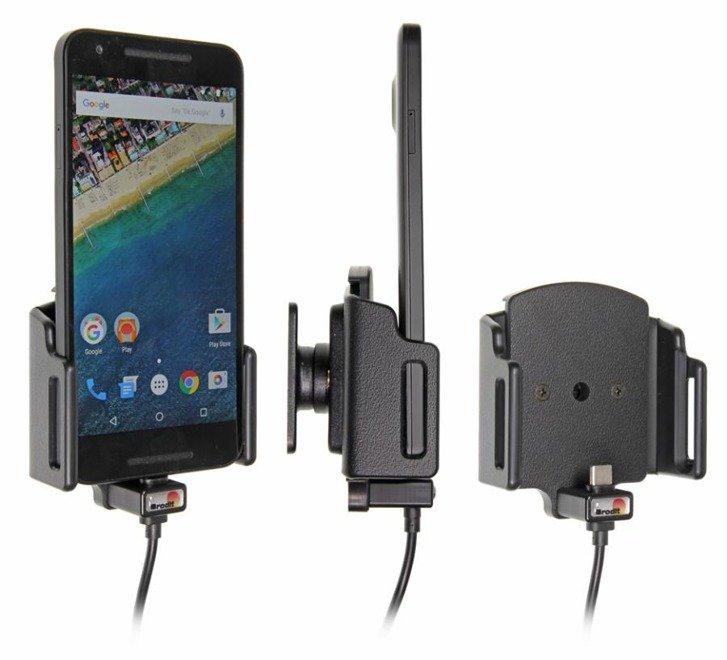 Uchwyt uniwersalny regulowany do smartfonów bez futerału oraz w futerale lub etui o wymiarach: 75 89 mm (szer.), 9 13 mm (grubość) z wbudowanym kablem